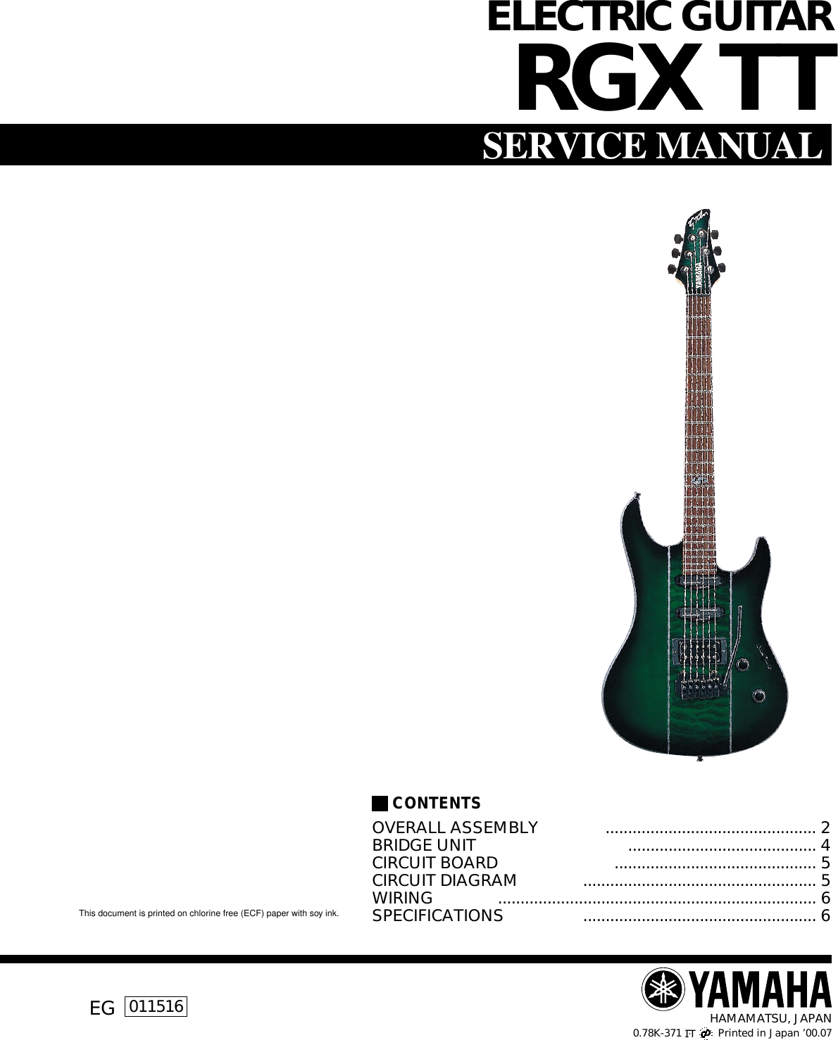 Yamaha Guitar Rgx Tt Users Manual Wiring Site