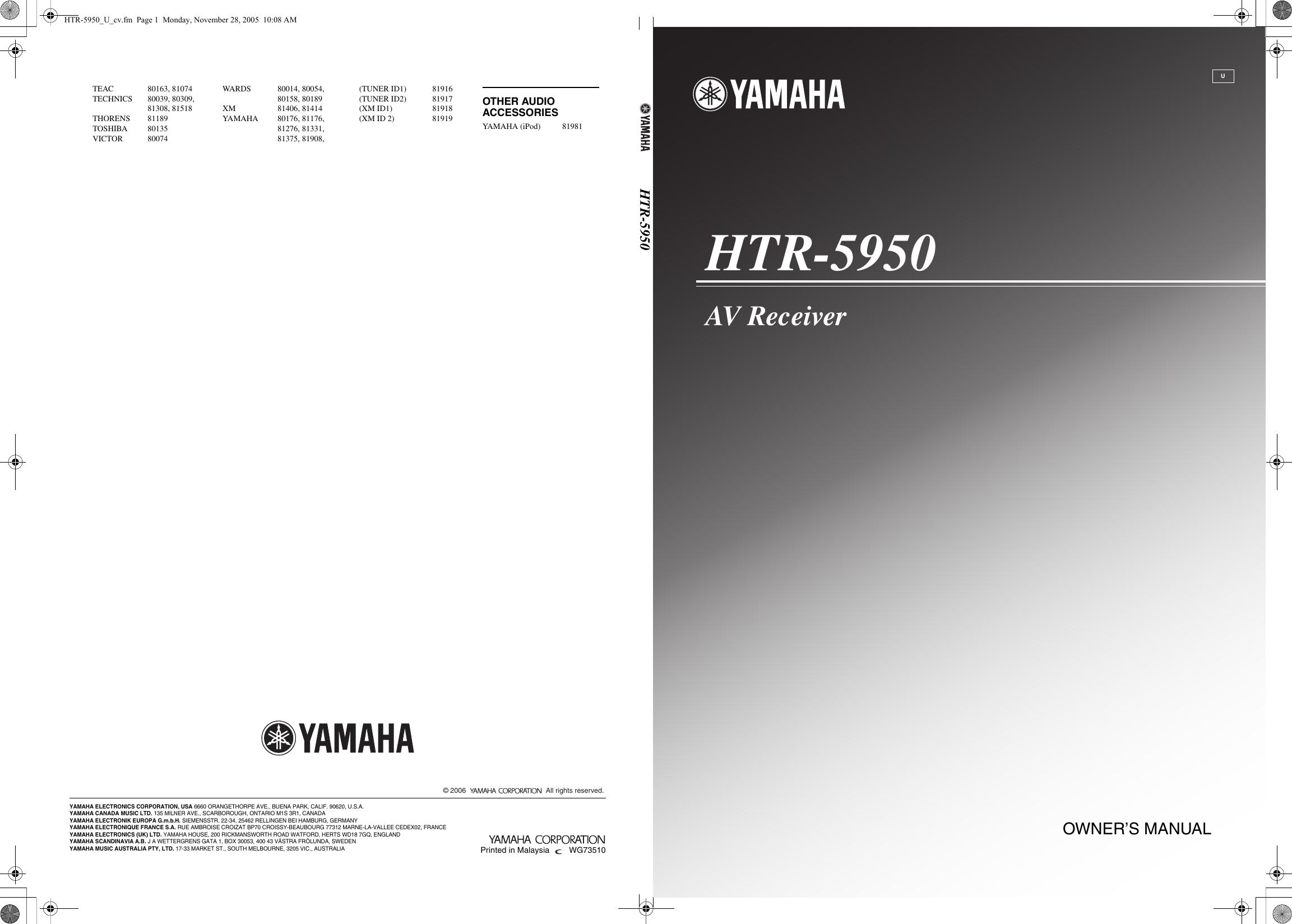 yamaha htr 5950 owners manual rh usermanual wiki