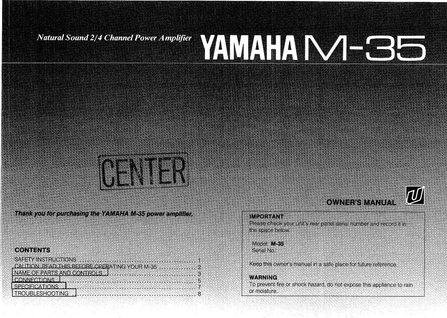 yamaha m 35 owner s manual rh usermanual wiki Infiniti M35x M35 Truck