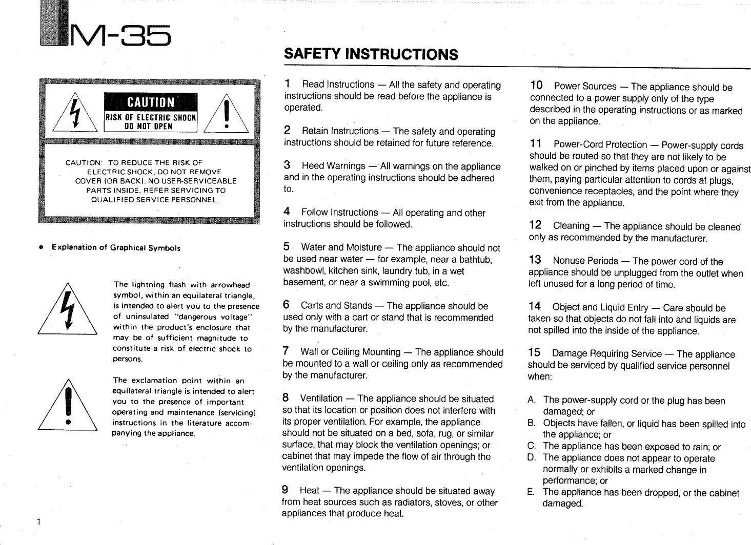 yamaha m35 user guide free owners manual u2022 rh wordworksbysea com Yamaha Electronics Manuals Yamaha HTR-5730 Owner's Manual
