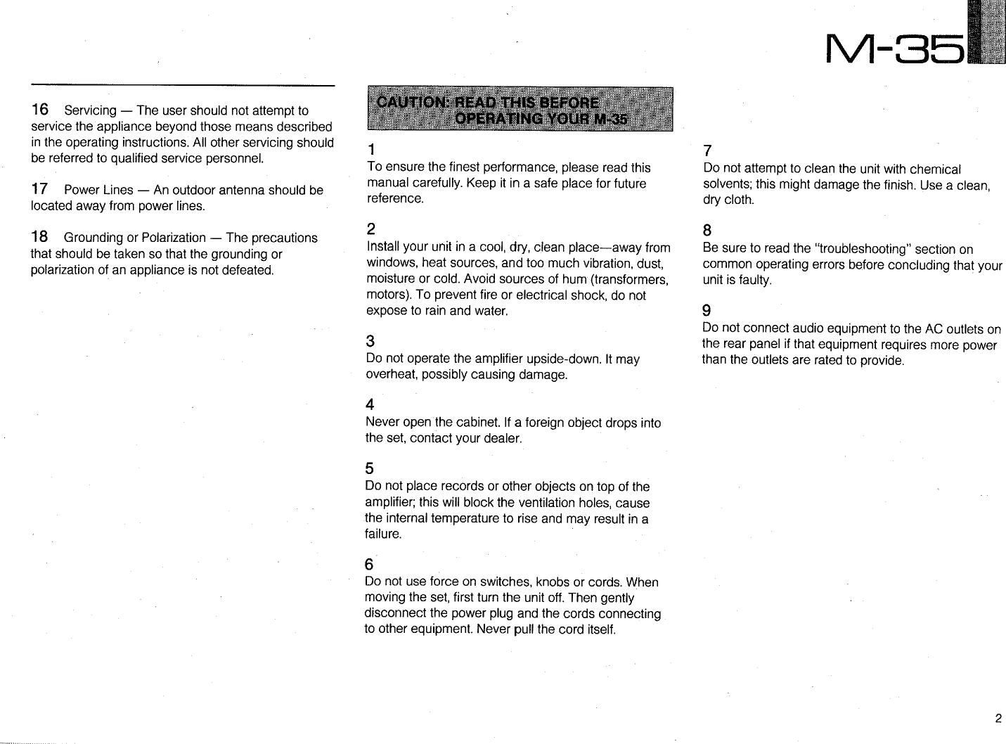 yamaha m 35 owner s manual rh usermanual wiki M35A3 M35A3