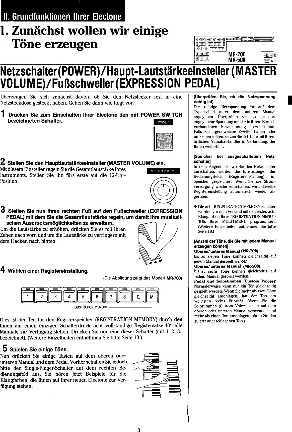 Yamaha MR 700/MR 500 Owner's Manual (Image) MR700G