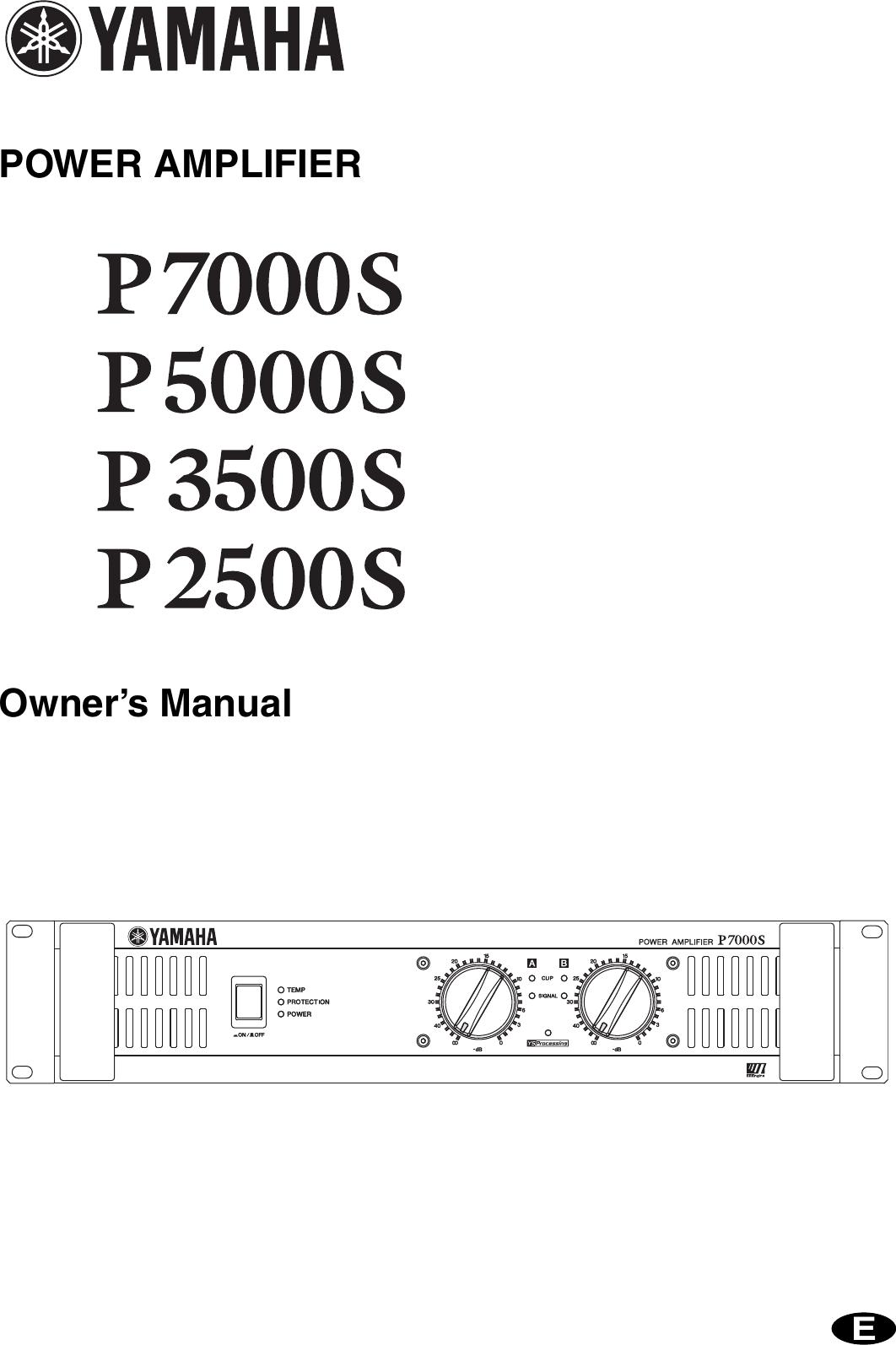 File  Schematic Diagram Yamaha P7000