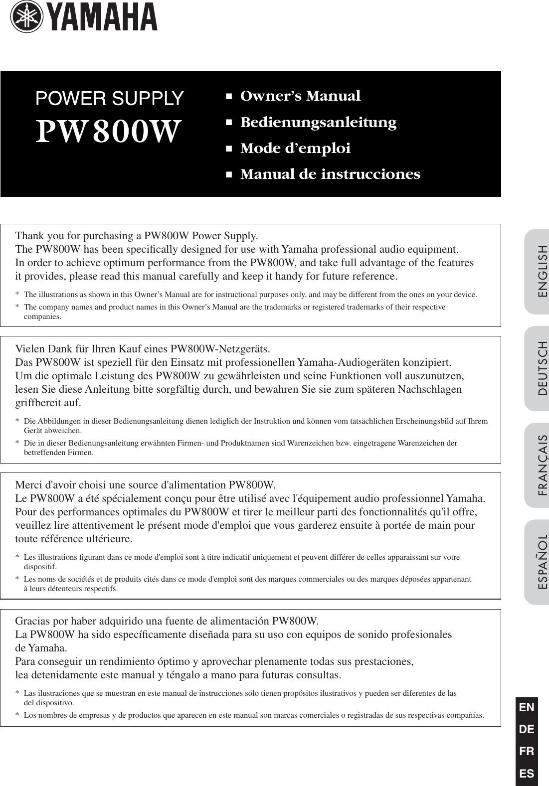 ... Array - yamaha pw800w owners manual owner u0027s rh usermanual wiki ...