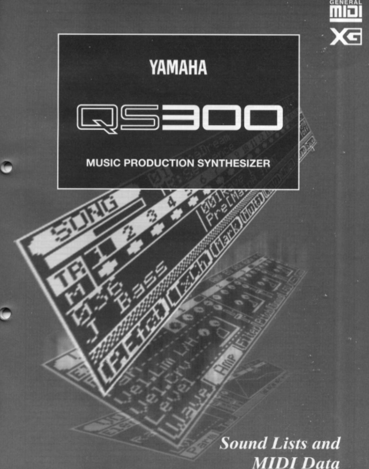 Yamaha QS300MD QS300 Sound Lists And MIDI Data QS300E2