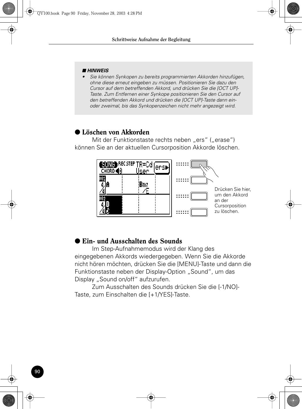 Yamaha Qy100 Owners Manual