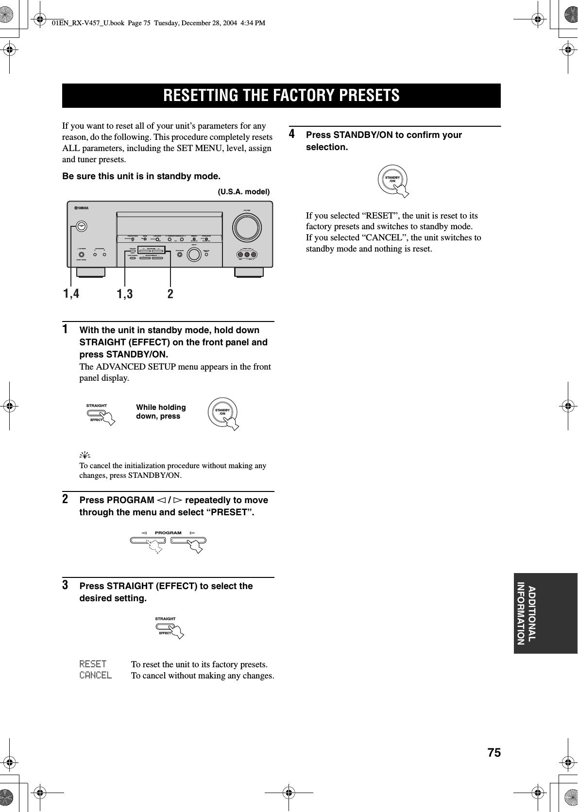 Yamaha 01EN_RX V457_U RX V457 Manual
