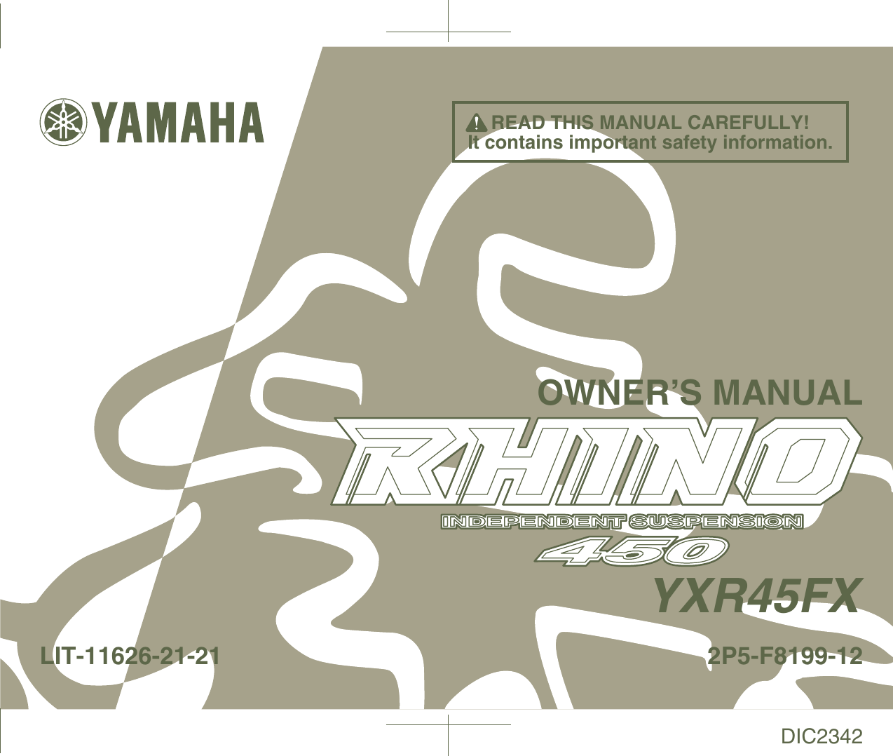 Yamaha Rhino 450 Owners Manual ManualsLib Makes It Easy To