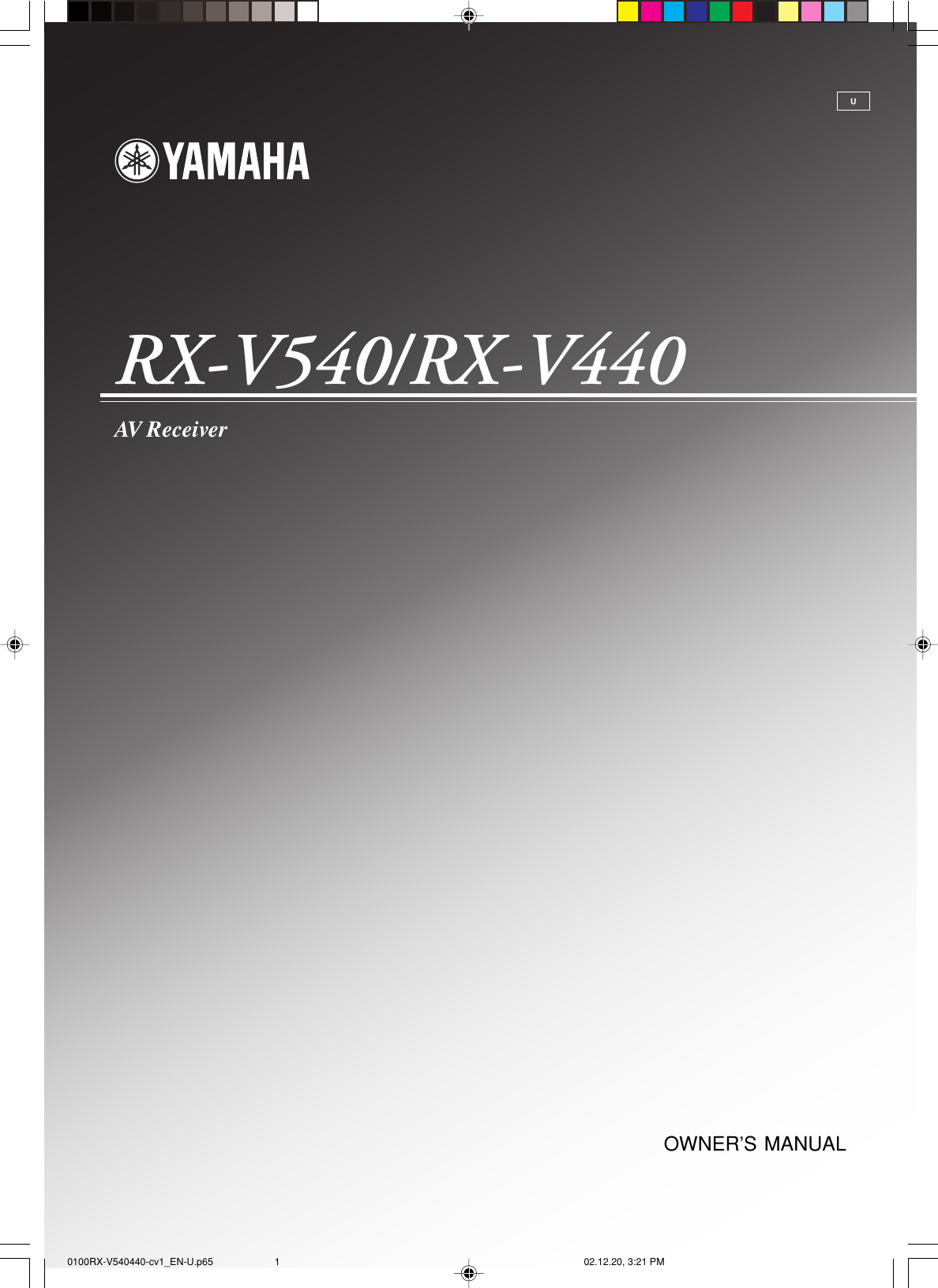 specifications Array - yamaha rx v540 owners manual 0100rx v540440 cv1 en u  p65 rh usermanual wiki ...