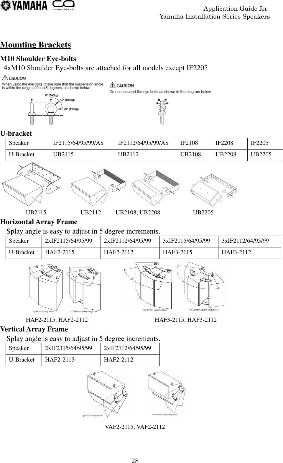 Yamaha Series Speaker Application Guide