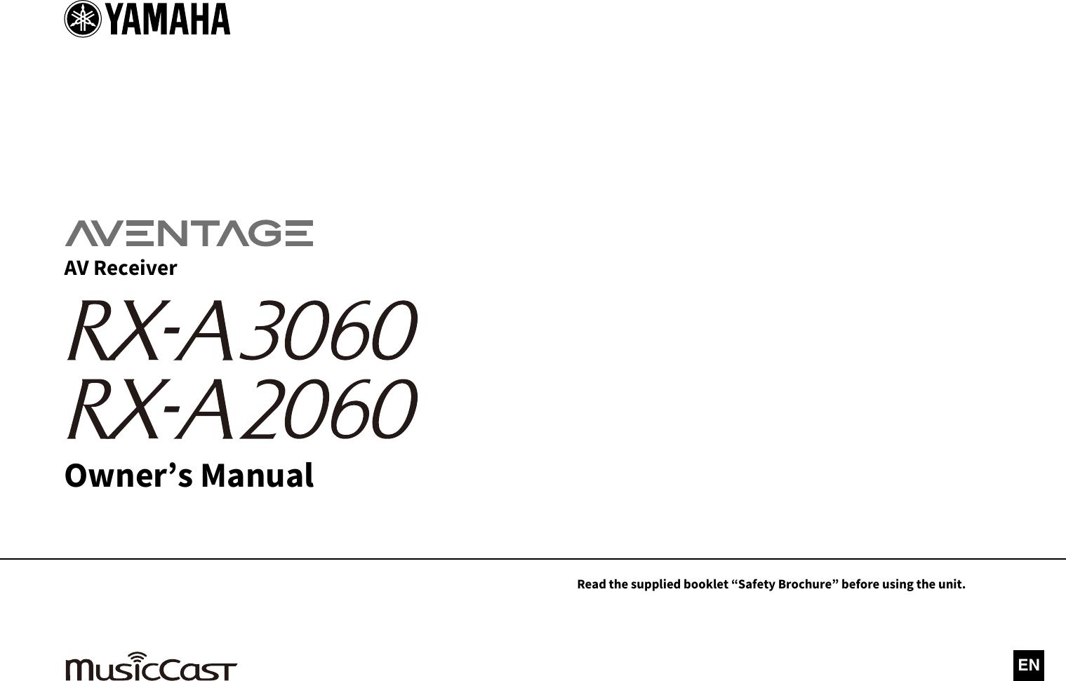 Yamaha Rx A3060 A2060 Owners Manual Yh790b0 En1 2060 Om Motor Vega Force Db Sw Ucrabglf En C0