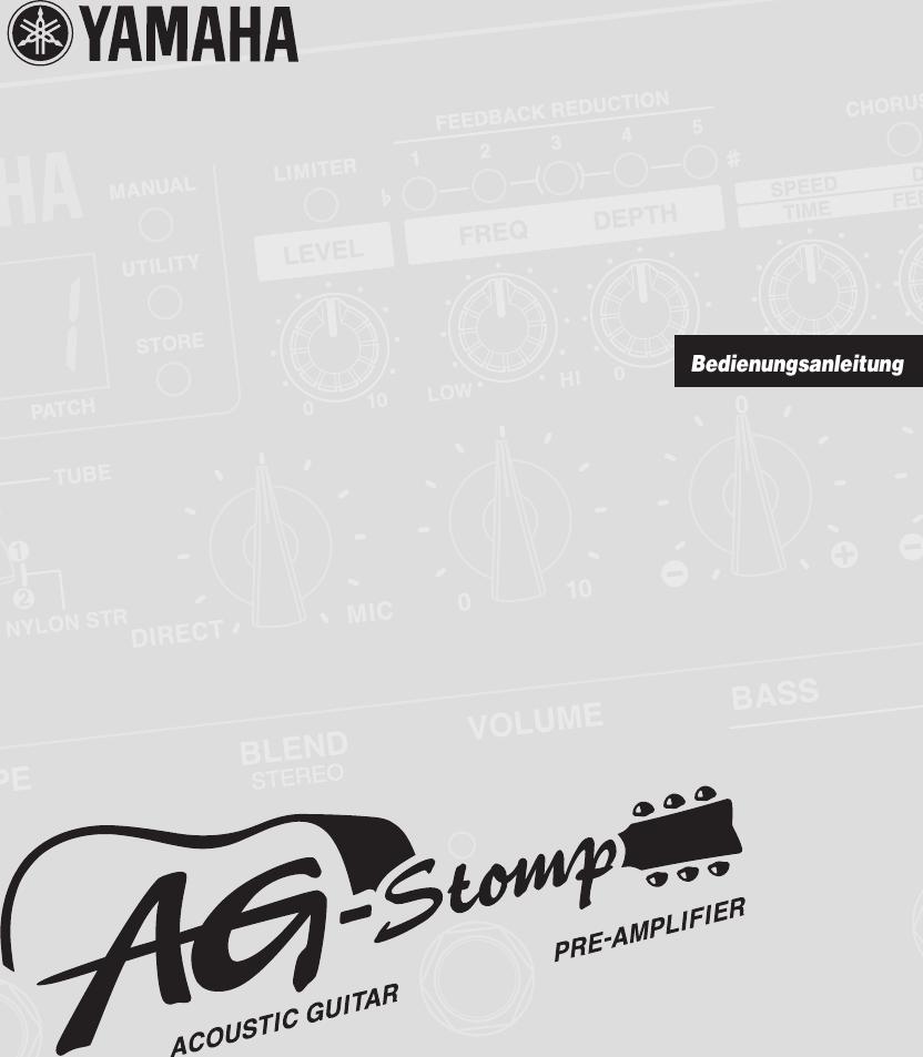 Yamaha AG Stomp Owner's Manual Agstomp De