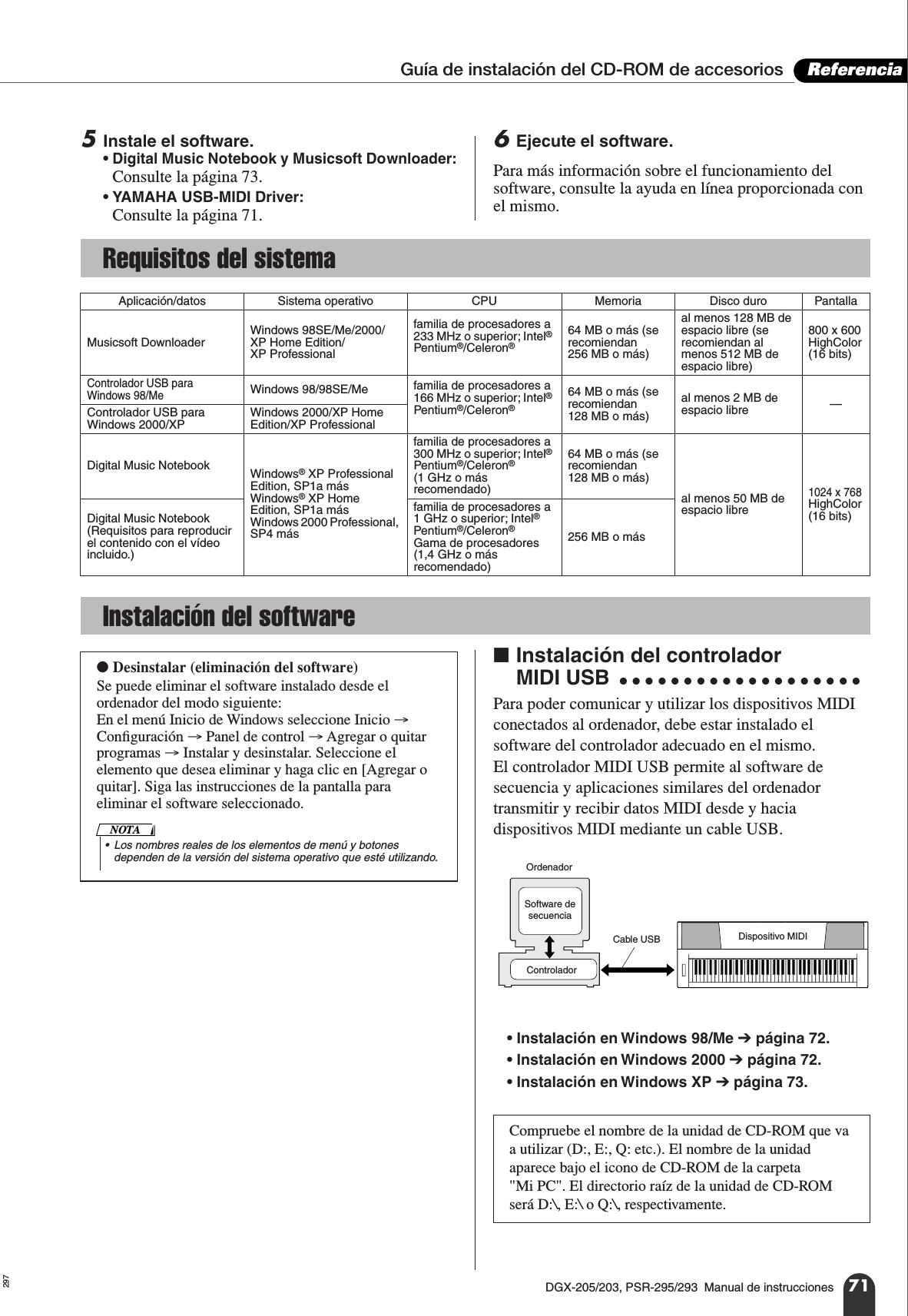 Yamaha Dgx205_SPA DGX 205/DGX 203/PSR 295/PSR 293 Owner's Manual