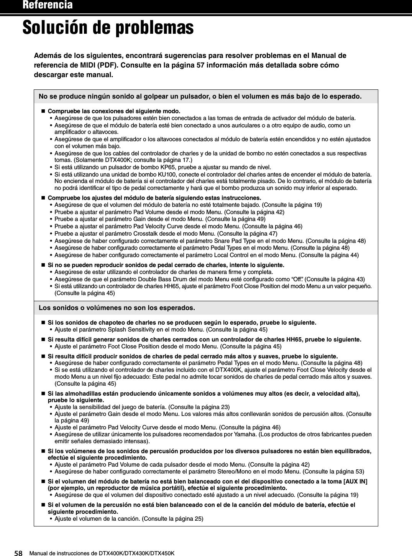 manual de instrucciones yamaha dtx400k