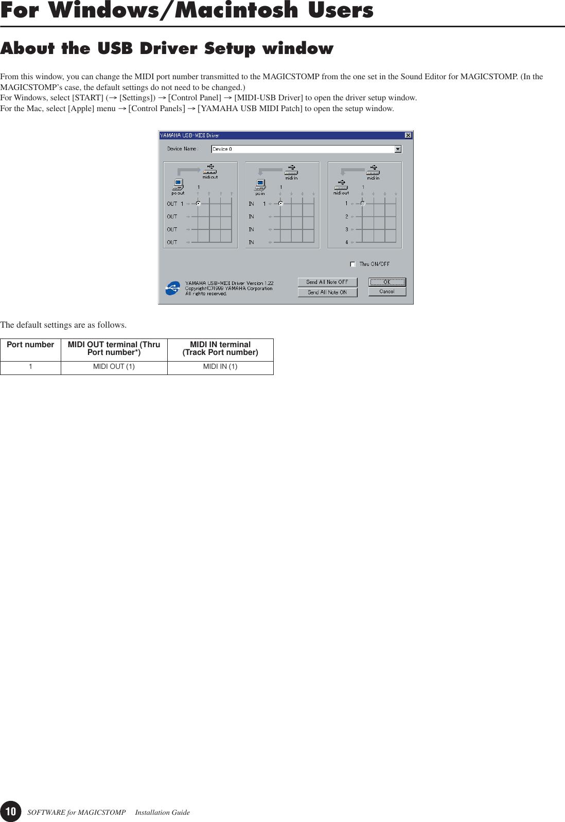 Yamaha Magicstomp ACOUSTIC Installtion Guide En4
