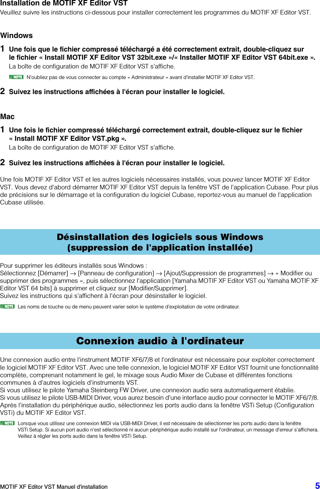 Yamaha MOTIF XF Editor VST Installation Guide (V1 4 0, V1 5 0