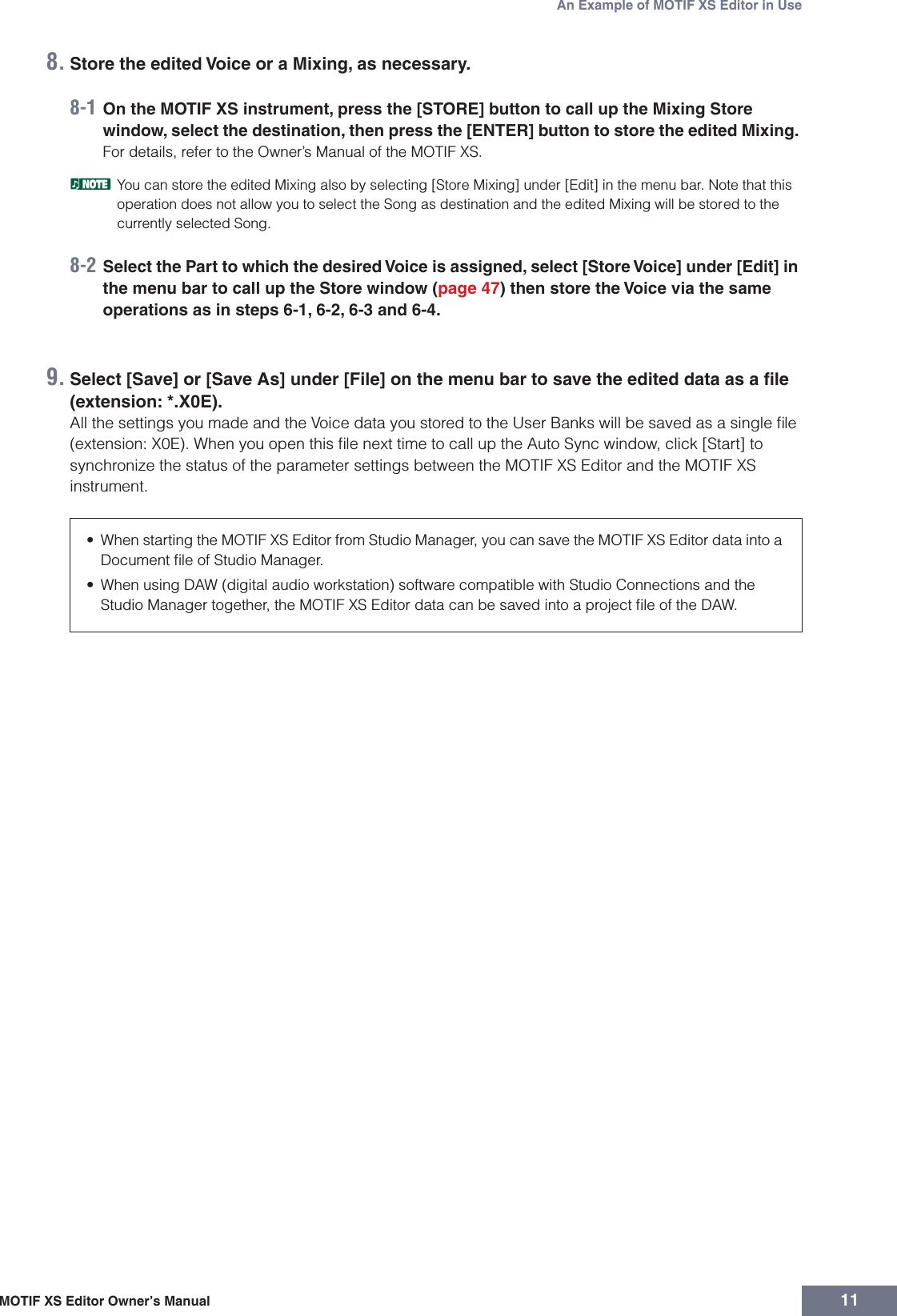 Yamaha MOTIF XS Editor Owner's Manual XS6/MOTIF XS7/MOTIF