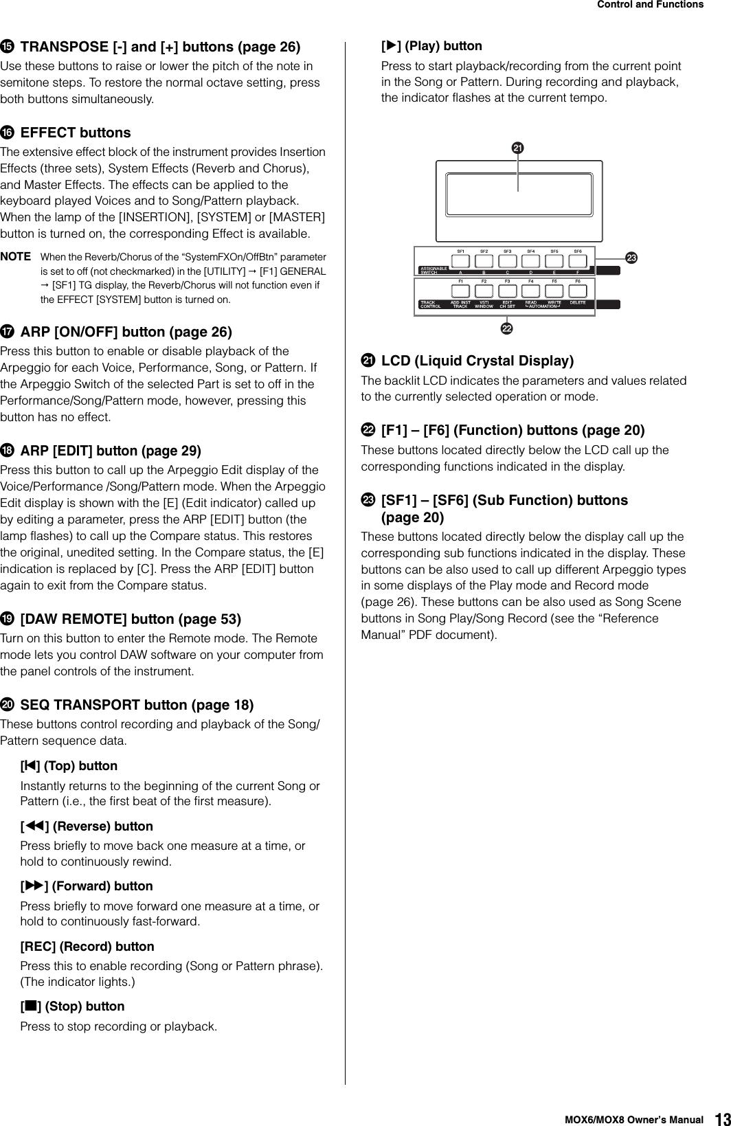 Yamaha MOX6 / MOX8 Owner's Manual MOX6/MOX8 Owner's Mox6mox8
