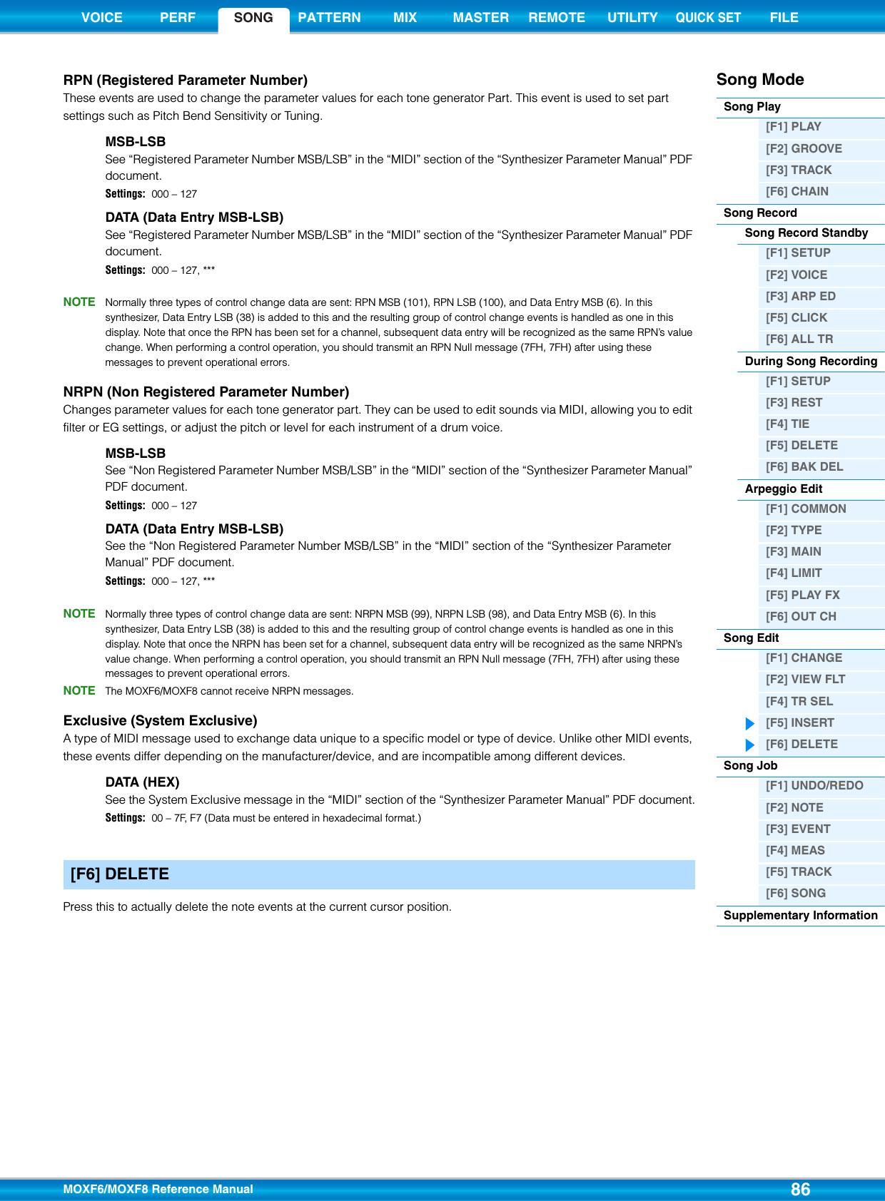 Yamaha MOXF6/MOXF8 Reference Manual Moxf6moxf8 En Rm A0