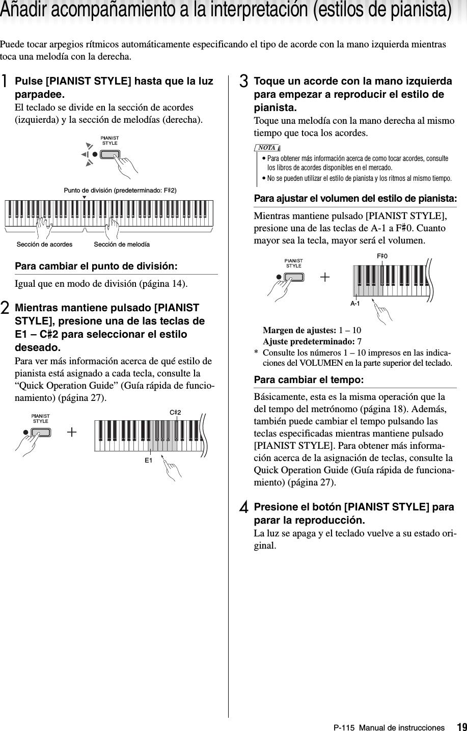 Yamaha P 115 Owner's Manual P115 Es Om B0