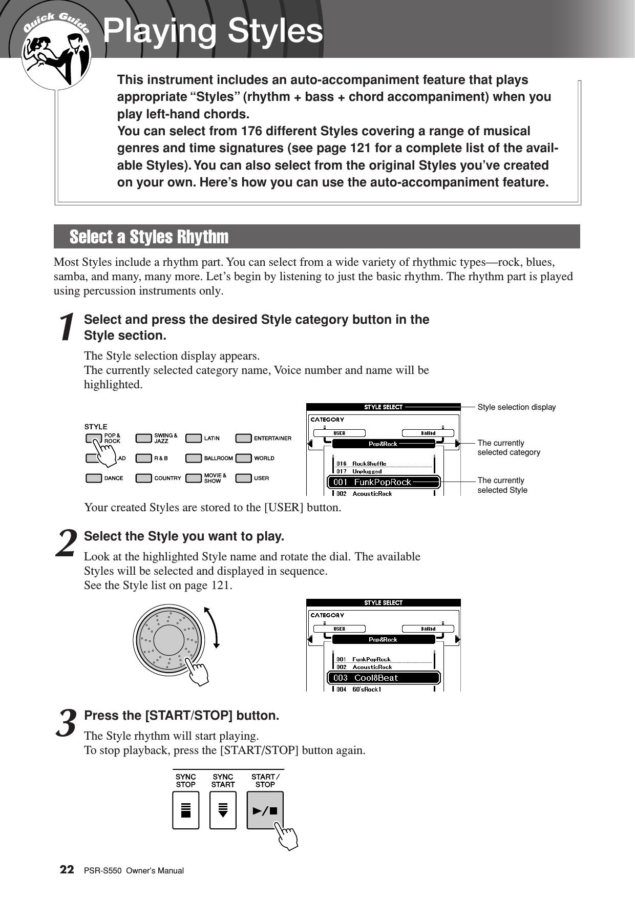 Yamaha PSR S550 Owner's Manual Psrs550 En Om C1
