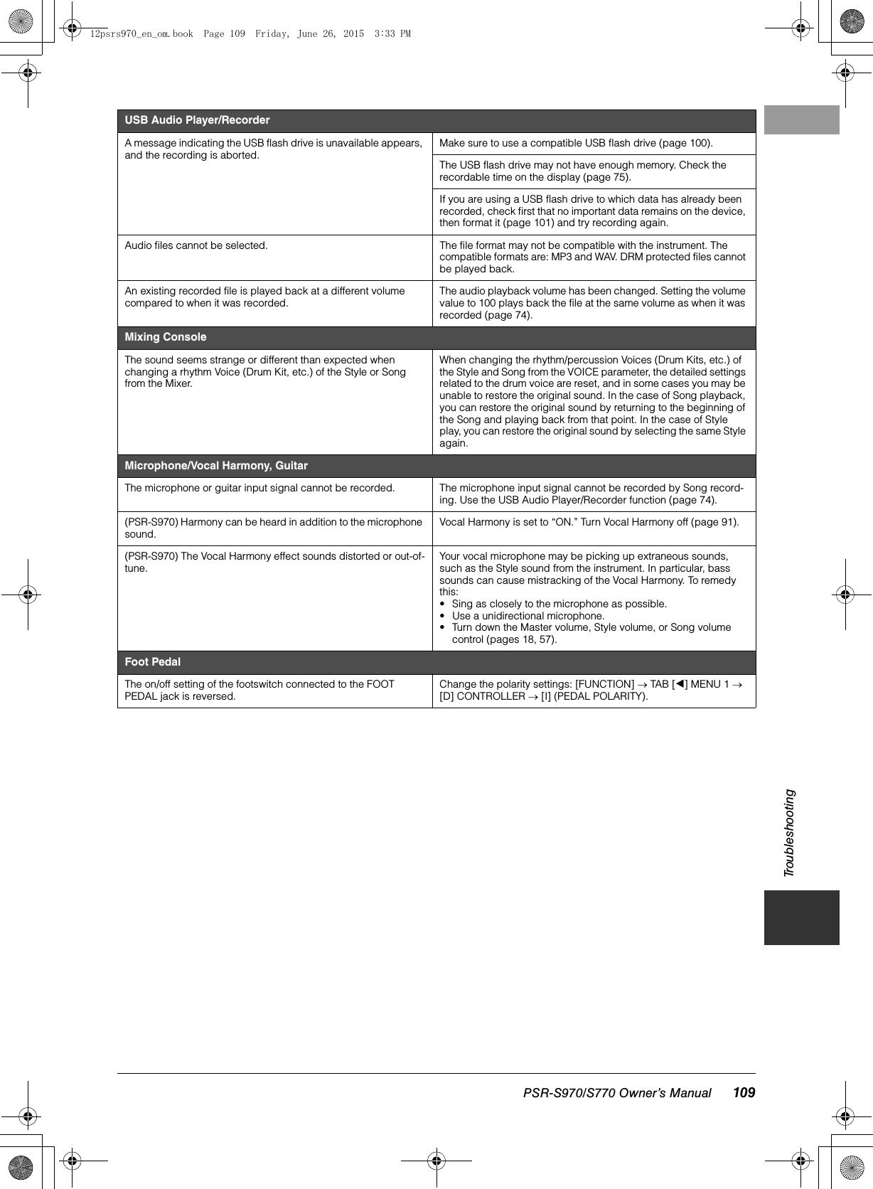 Yamaha PSR S970/S770 Owner's Manual S970/PSR S770 Psrs970 En Om B0
