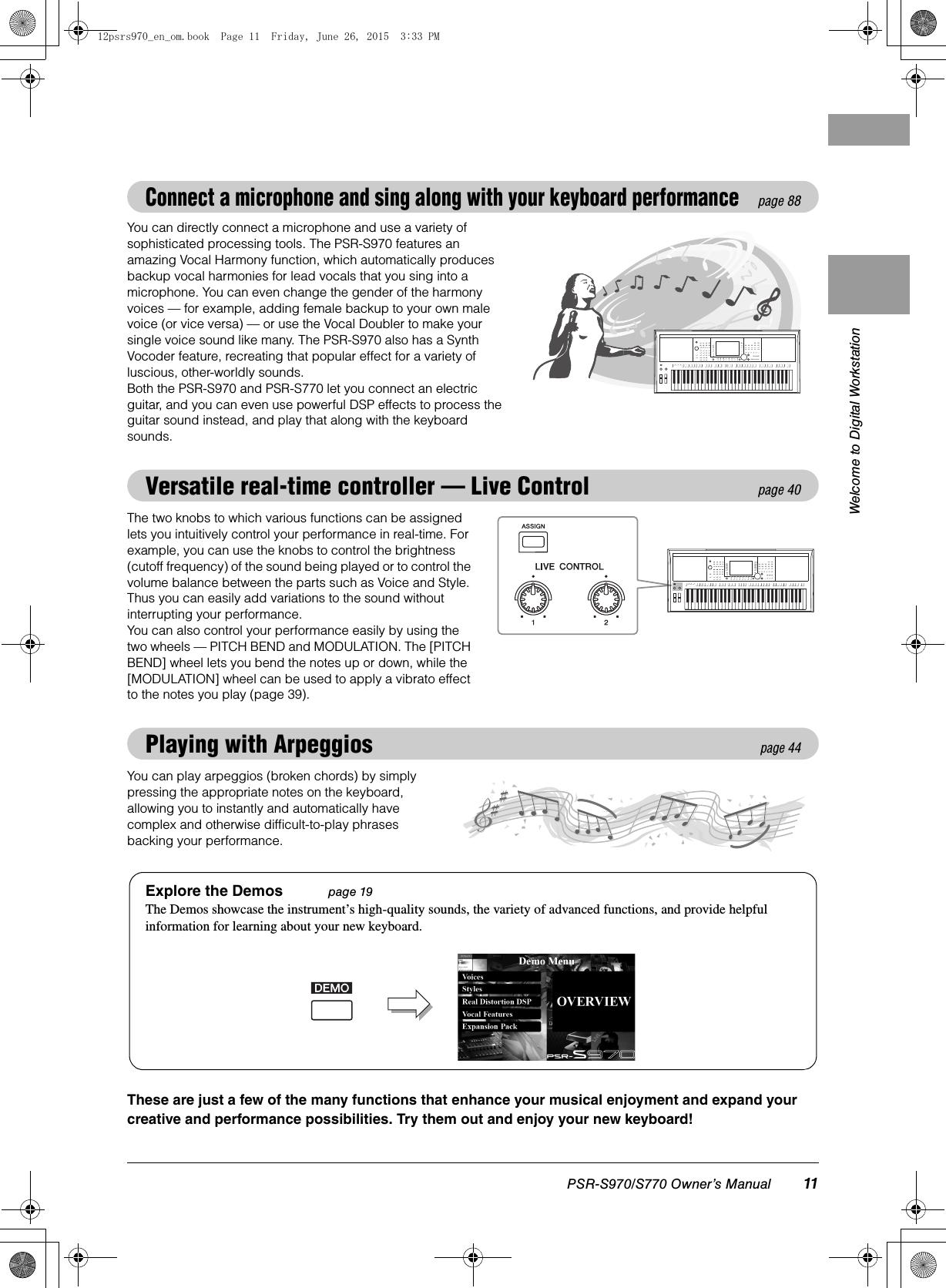 Yamaha PSR S970/S770 Owner's Manual S970/PSR S770 Psrs970 En