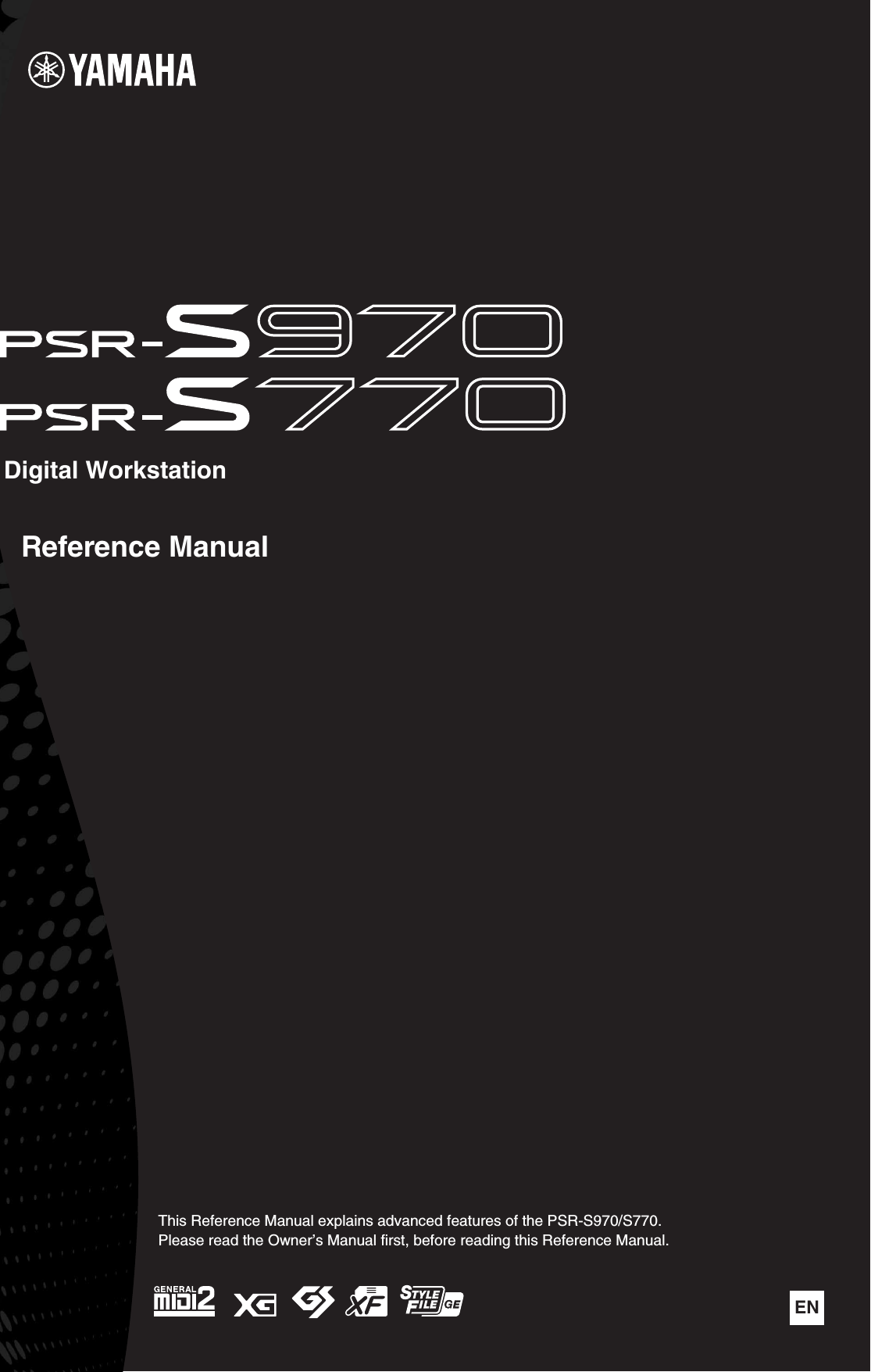Yamaha PSR S970/S770 Reference Manual S970/PSR S770 Psrs970