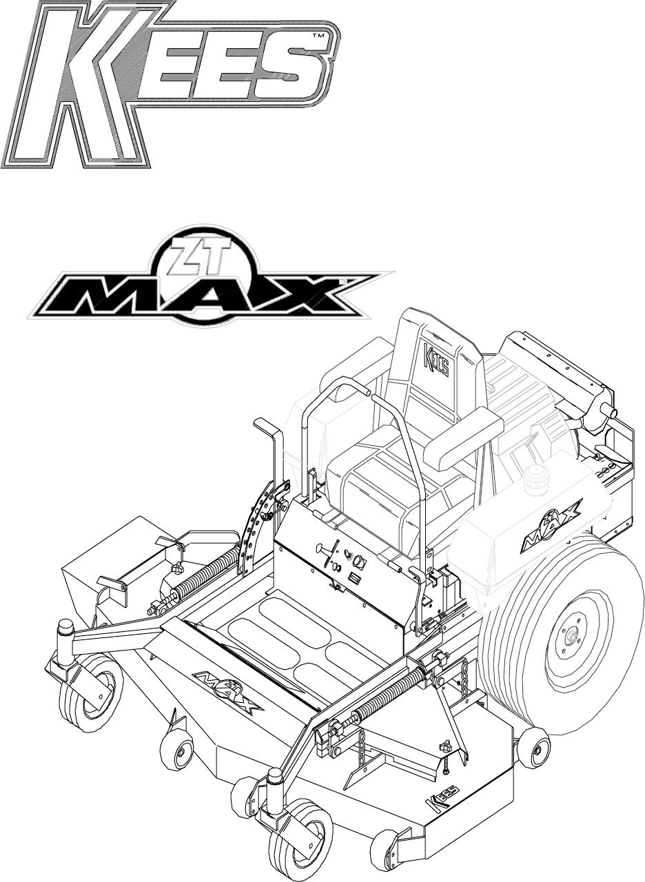 Yazoo Kees Zt Max Zkh52221 Users Manual Om  Zkh52221  Zkh52251  Zkh61221  Zkh61251  1997 09
