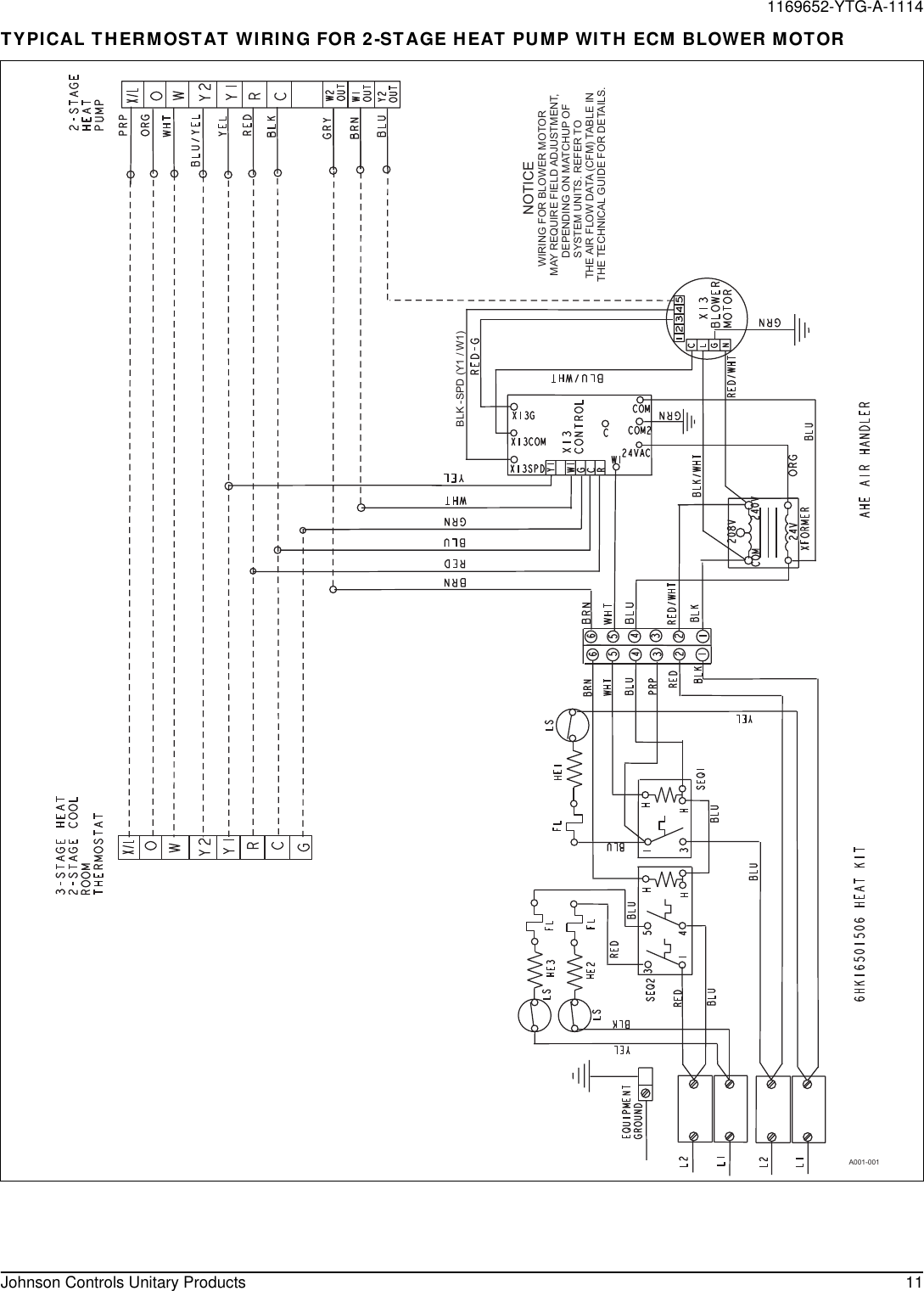 York Ae Air Handler Technical Guide 1169652 Ytg A 1114 Heat Pump Schematic Page 11 Of 12