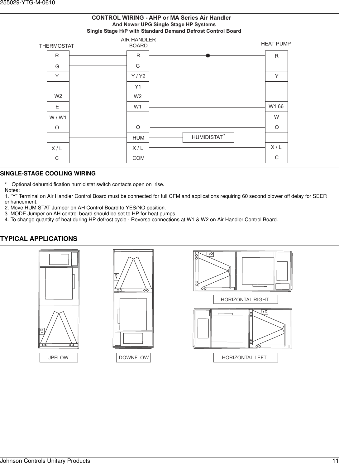 York Ahp18 Users Manual 255029 Ytg M 0610 Control Board Wiring Diagram Page 11 Of 12