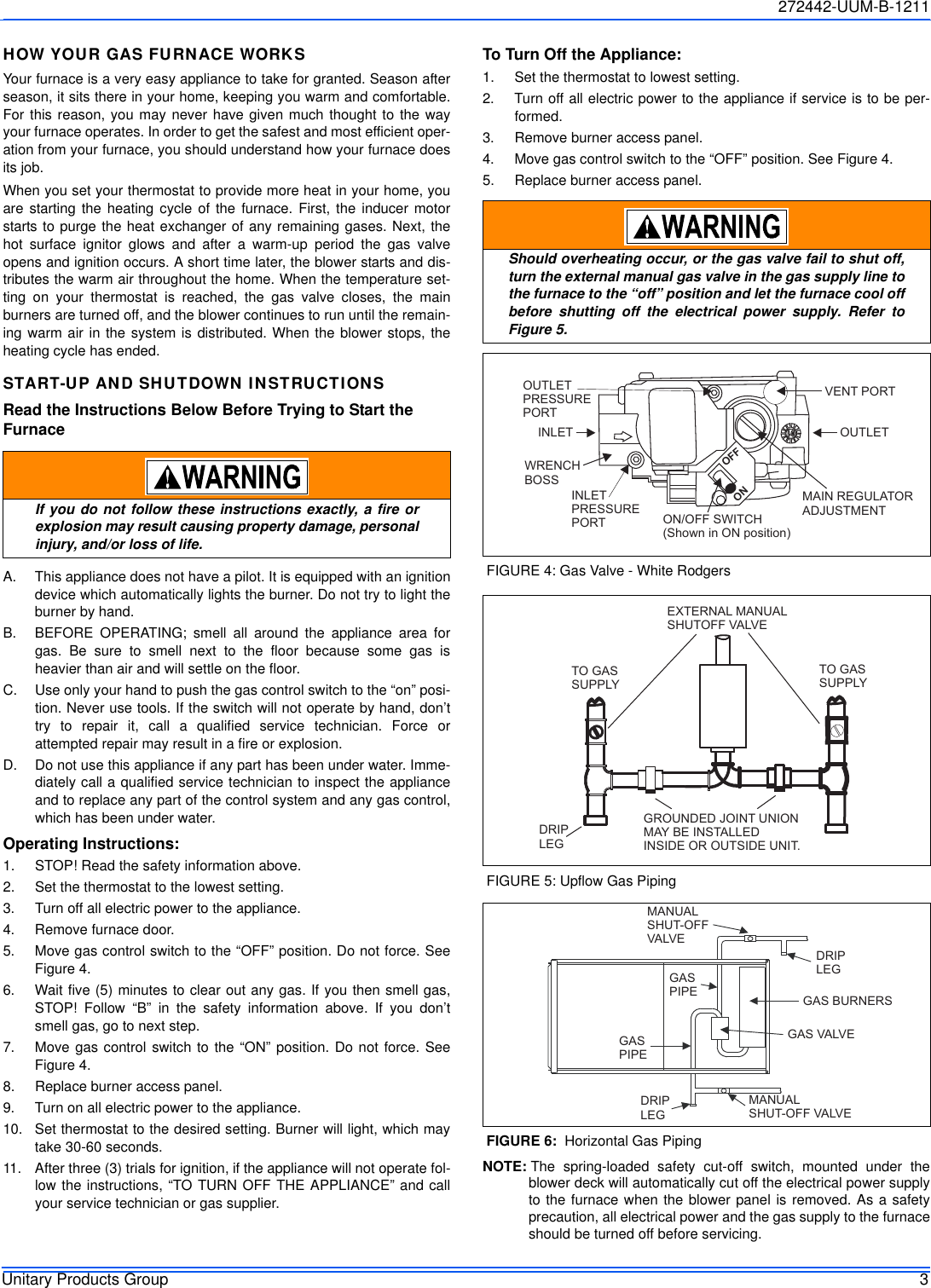 York Commercial Gy8s E Furnace Users Manual 272442 Uum B 1211 Gas Schematic Page 3 Of 12