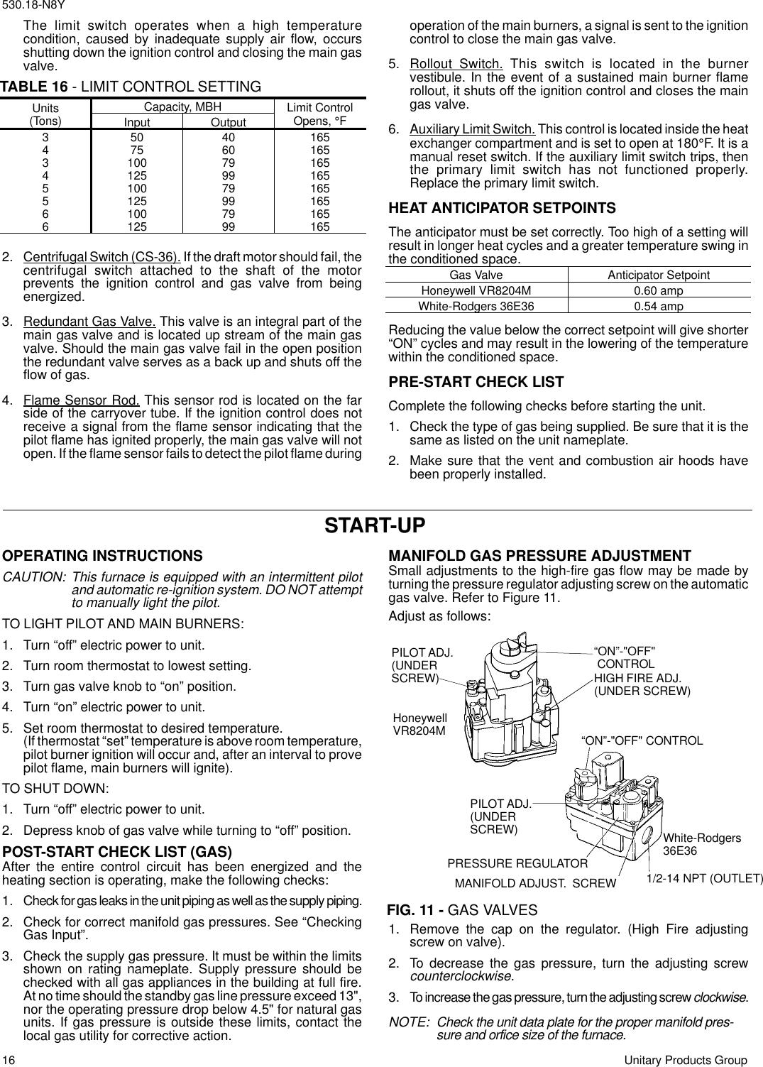 York Sunline 2000 D2Cg 072 Users Manual DCG INSTALLATION