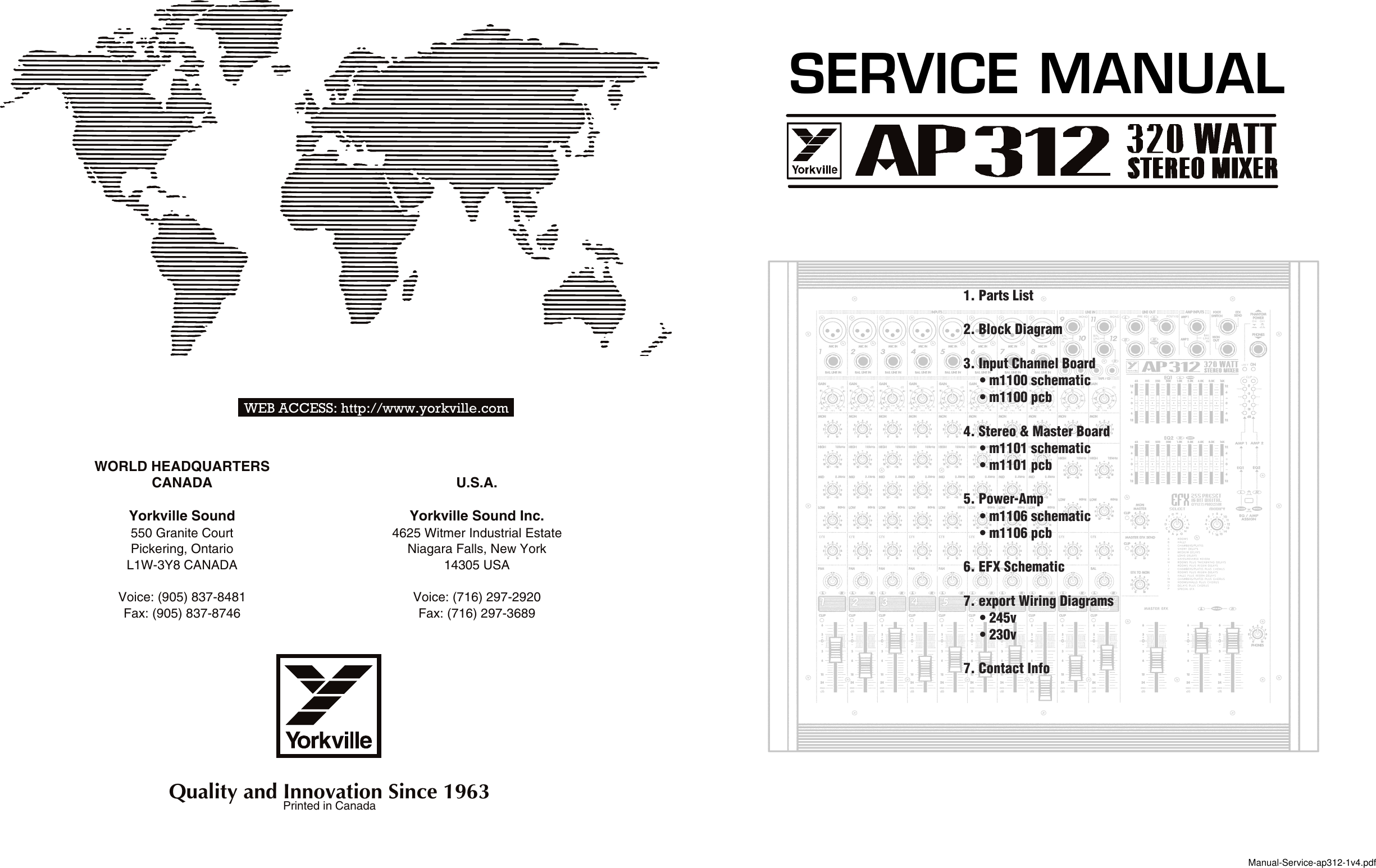 Yorkville Ap 312 Users Manual Channel Master Wiring Diagram