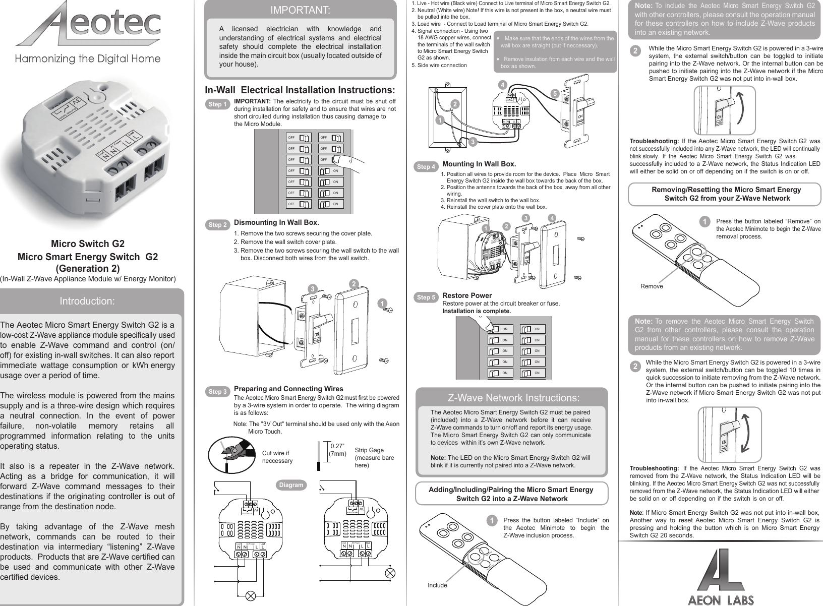 Z Wave B008vwapu4 Aeotec By Aeon Labs Micro Energy Switch Dsc18103 Wiring Schematics O Zwus Instruction Manual Ses G2 V15 User