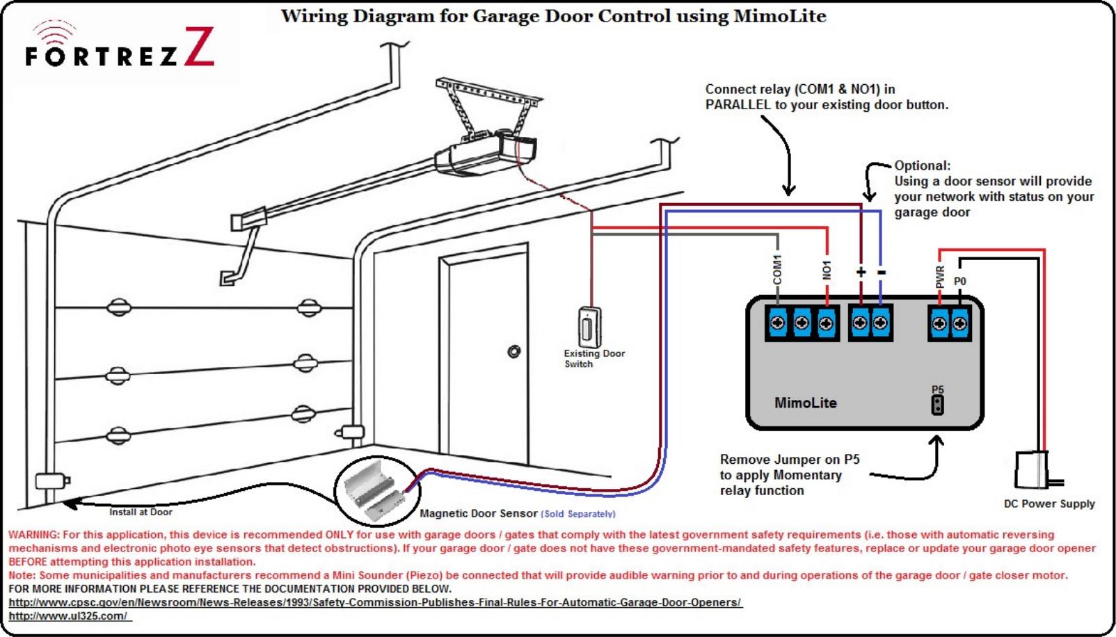 Z Wave B00b6rz7mm Fortrezz Mimolite Motor Control Fzmimoliteus Wiring Diagram Diagra User Manual Fortrez