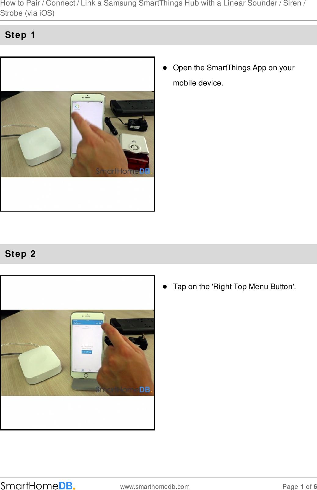 Z Wave Smarthomedb Com How To Pair Connect Link A Samsung