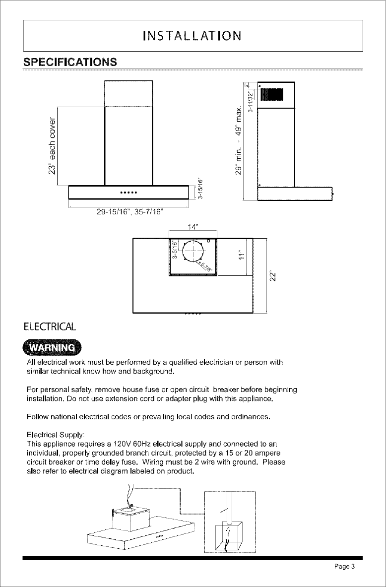 Zephyr Range Hood Manual Lr707370 Branch Wiring Diagram Page 7 Of 12