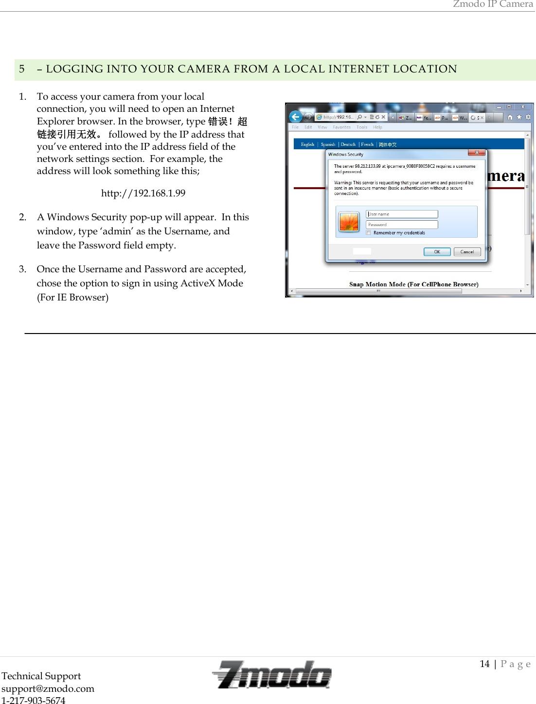 ZMODO Technology I11133WT IP-CAM User Manual I11133WT Draft Final