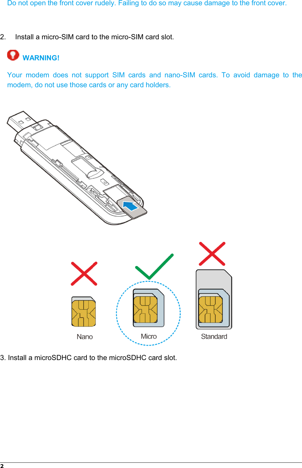 Page 4 of ZTE MF833V LTE/WCDMA/GSM(EDGE,GPRS) USB modem User Manual