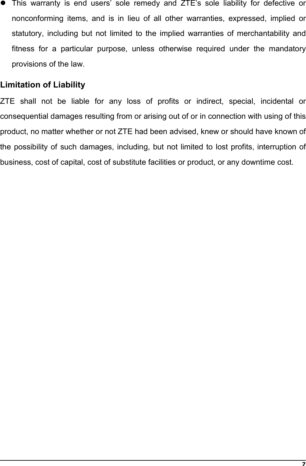 Page 9 of ZTE MF833V LTE/WCDMA/GSM(EDGE,GPRS) USB modem User Manual