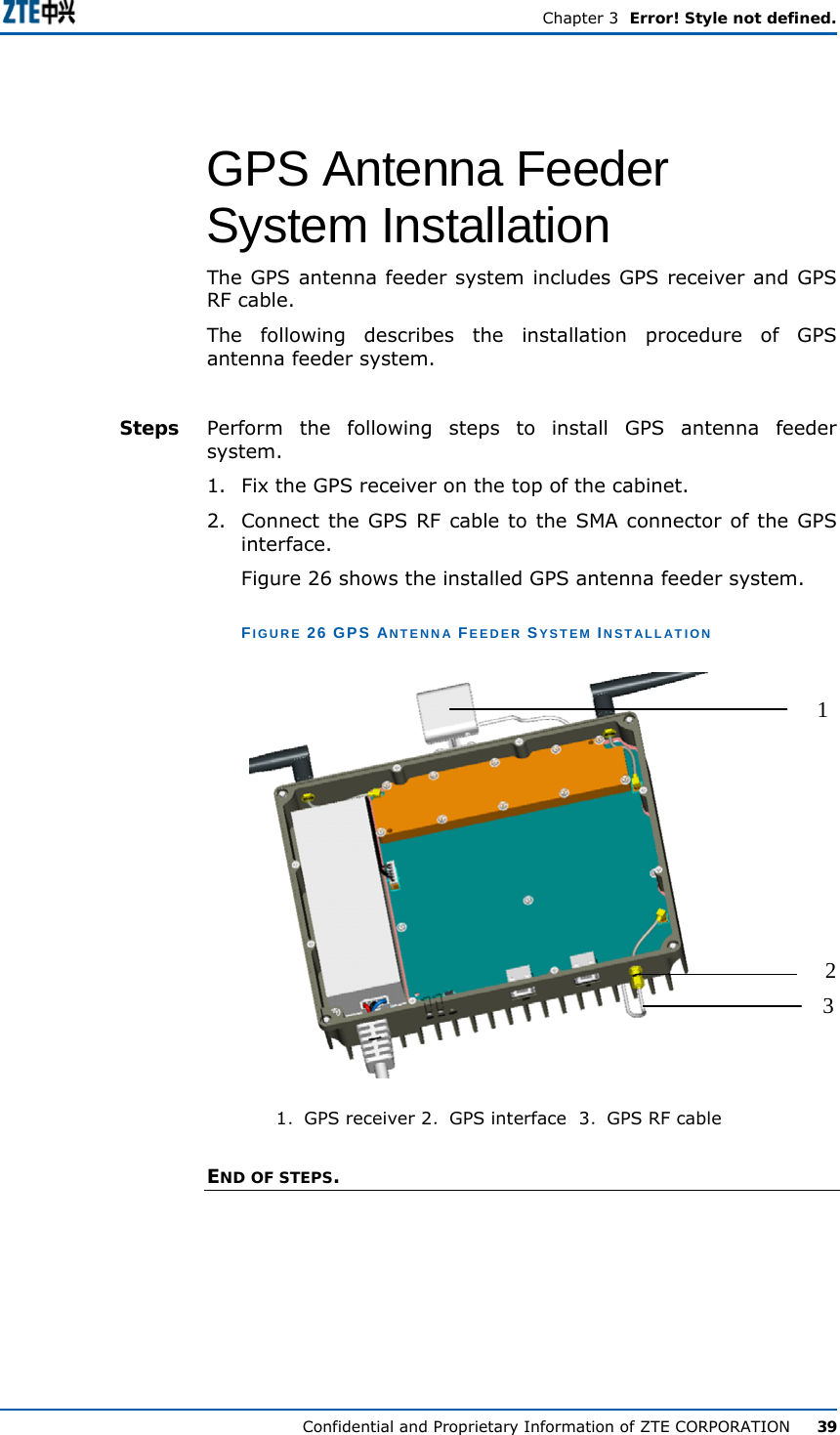 ZTE ZXMBW-E9200 Indoor PICO Base Station User Manual Manual