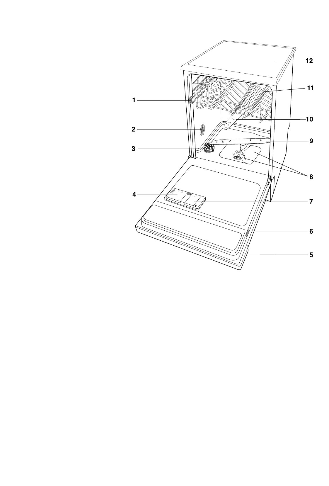 Zanussi Zdf 601 Instruction Booklet Washing Machine Wiring Diagram Service Manual Error Code Description Of The Appliance