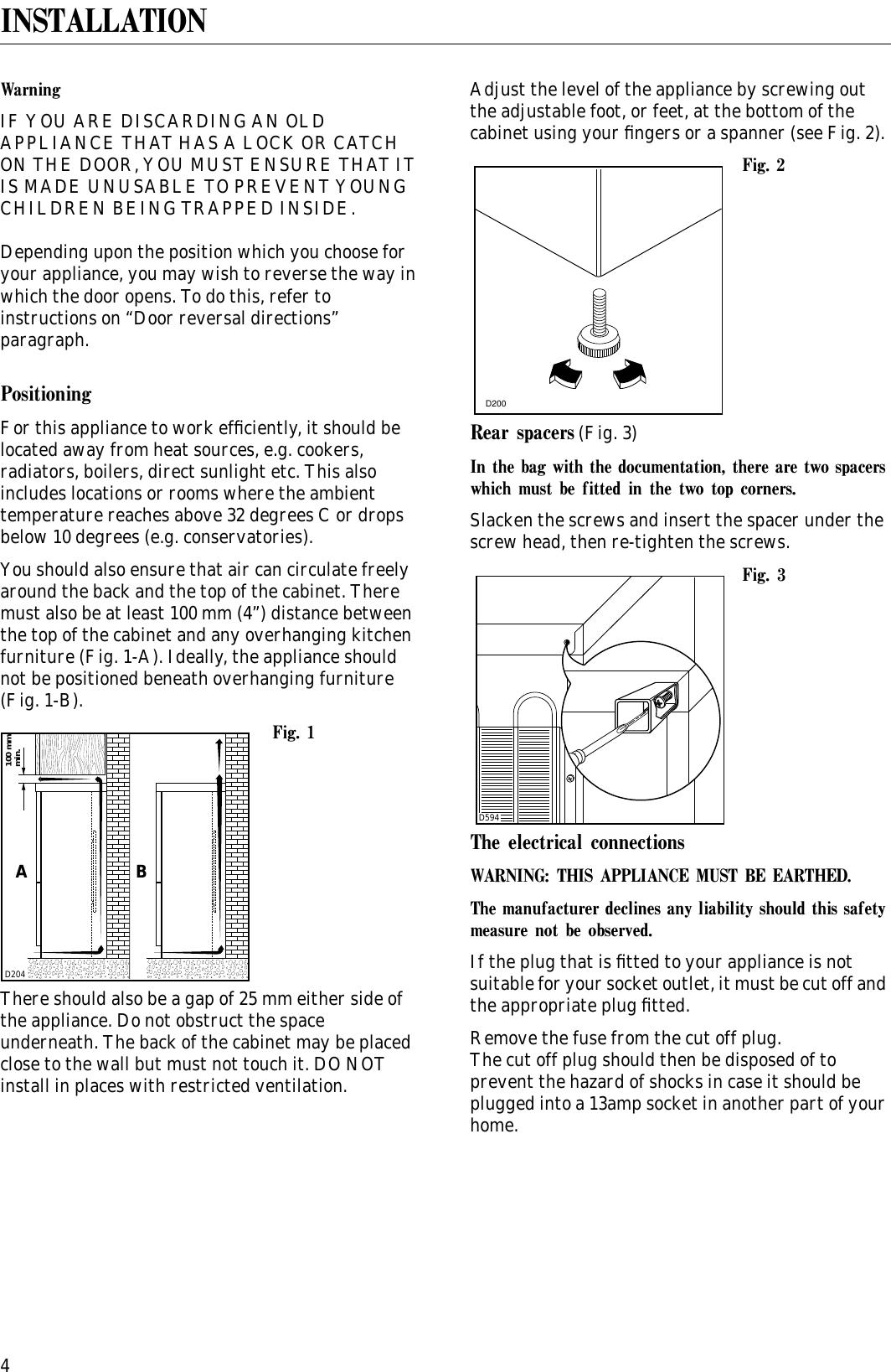 Zanussi Zfca 62 26 Users Manual
