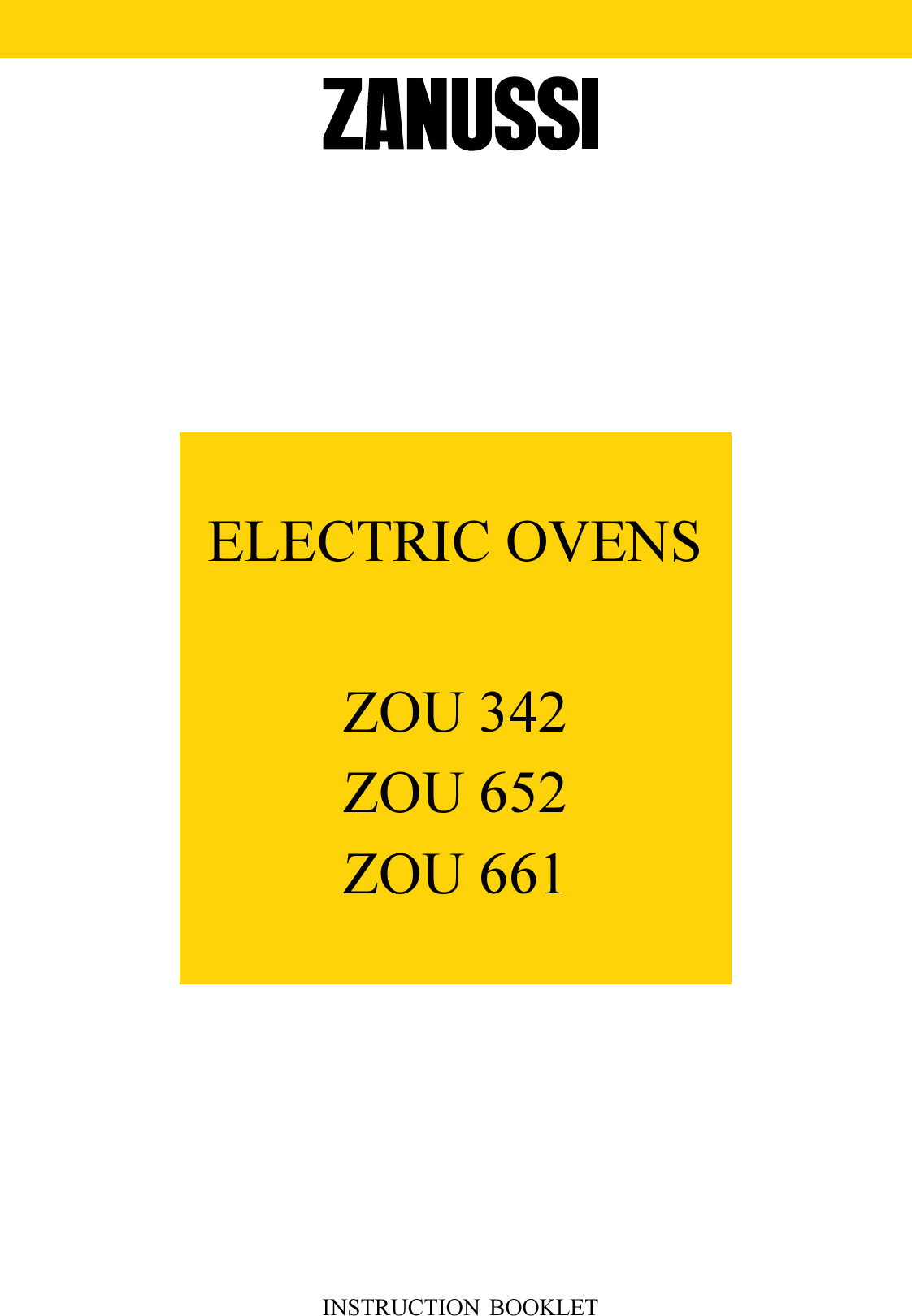 Zanussi Zou 342 Users Manual