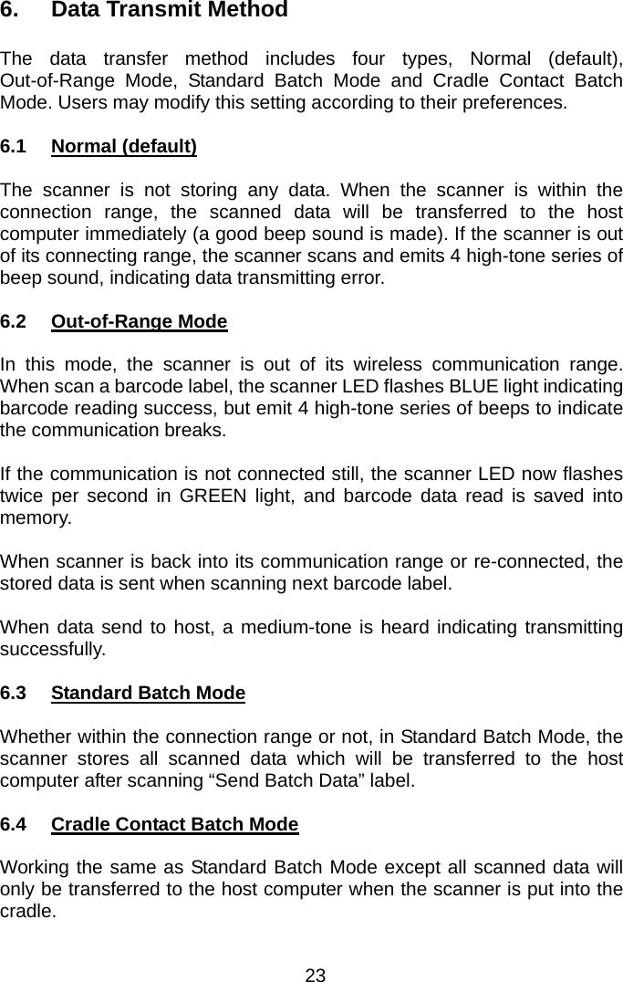 Zebex Z-3051BT 2 4GHZ Wireless Barcode Scanner User Manual