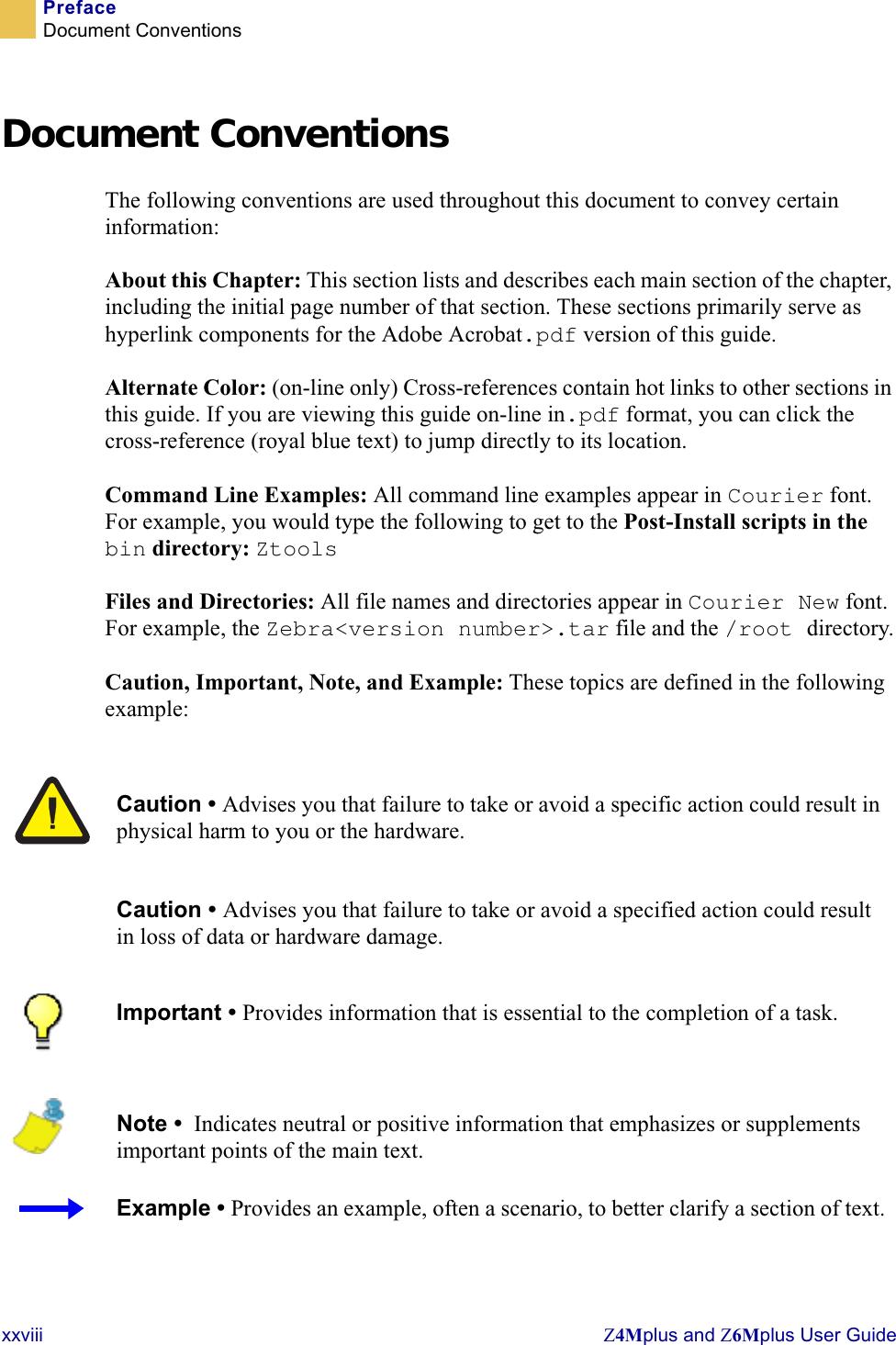Zebra Z4Mplus Users Manual Technical Writer II