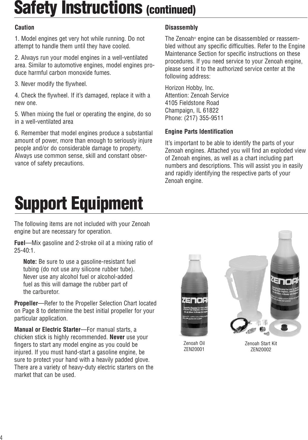 Zenoah G26 Air Users Manual 6135_Zenoah Engine