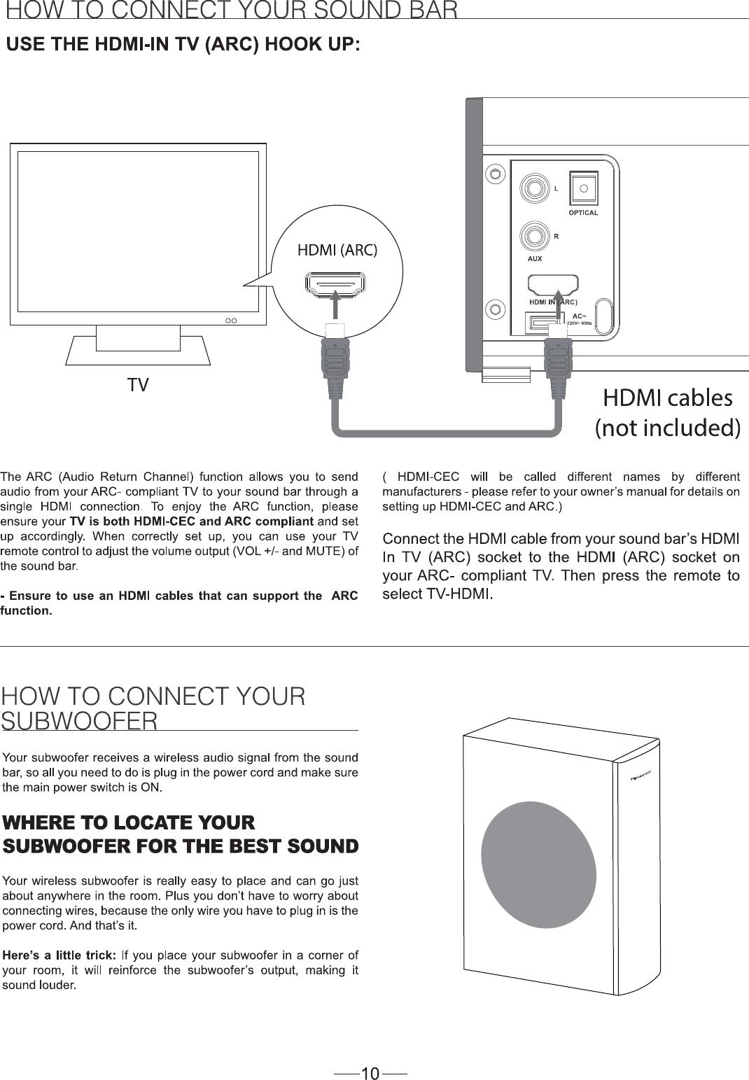 Zhongshan City Richsound Electronic Tb362 Tv Soundbar Home Theatre Hdmi Arc Wiring Diagram User Manual