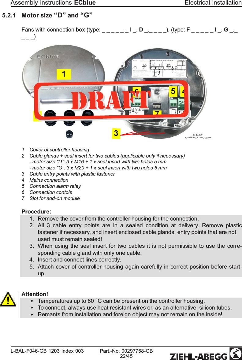 Beste Ziehl Abegg Motor Wiring Diagram Ideen - Elektrische ...